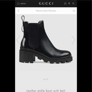 Authentic Gucci ankle boots worn a few times.